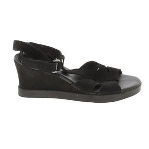Arche EU 37 Black Suede Wedge Sandals Cushioned